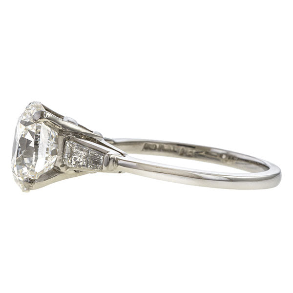 Vintage Diamond Engagement Ring, 3.01ct RBC sold by Doyle and Doyle an antique and vintage jewelry boutique