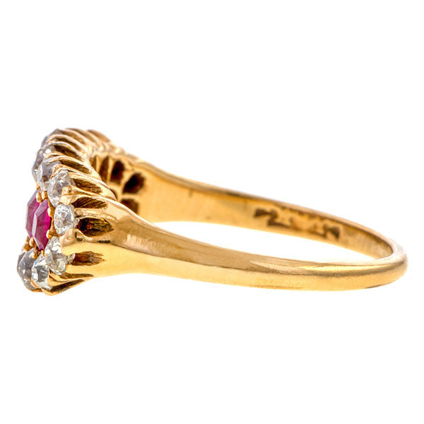 Antique Ruby & Diamond Ring sold by Doyle and Doyle an antique and vintage jewelry boutique