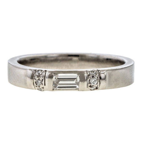 Vintage Diamond Wedding Band sold by Doyle and Doyle an antique and vintage jewelry boutique