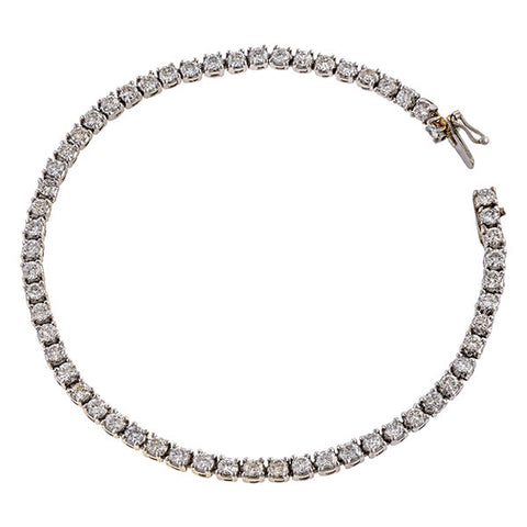 Estate Diamond Tennis Bracelet sold by Doyle and Doyle an antique and vintage jewelry boutique
