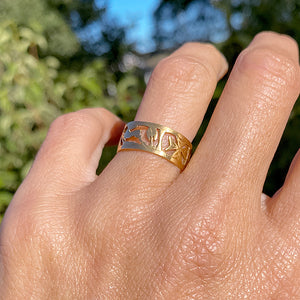 Antique Pierced Gold Band sold by Doyle and Doyle an antique and vintage jewelry boutique