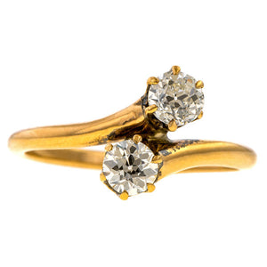 Antique Toi et Moi Diamond Ring sold by Doyle and Doyle an antique and vintage jewelry boutique