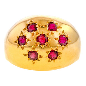 Vintage Ruby Bombe Ring sold by Doyle and Doyle an antique and vintage jewelry boutique
