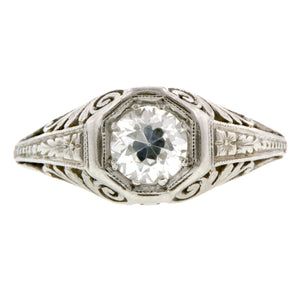 Art Deco Engagement Ring, TRB 0.60ct:: Doyle & Doyle