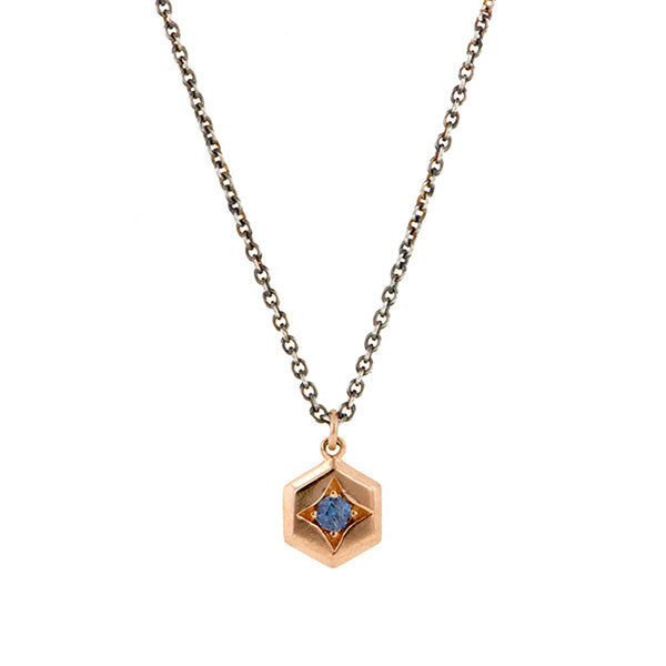 Hex Sapphire Necklace- Heirloom by Doyle & Doyle::