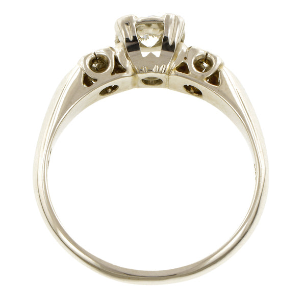 Vintage Diamond Engagement Ring, RBC 0.31ct::