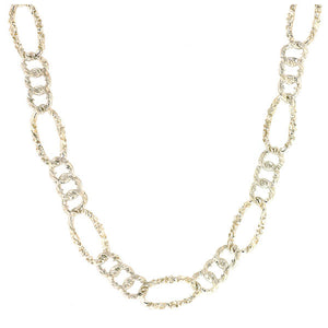 Embossed Link Alternating Necklace- Heirloom by Doyle & Doyle: