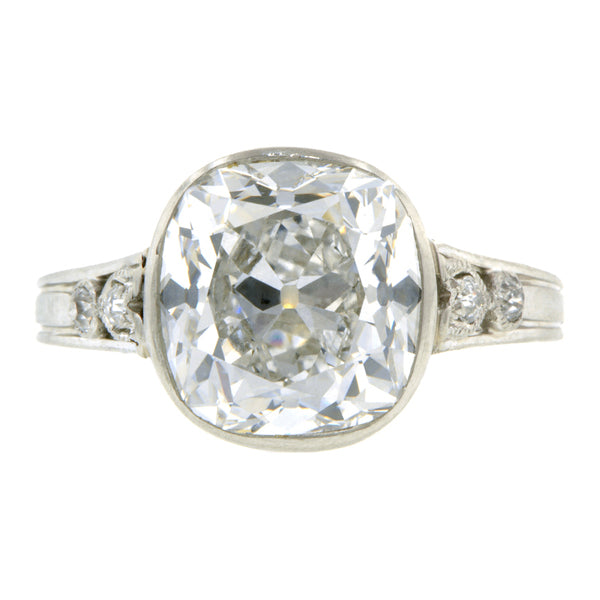 Vintage Engagement Ring, Old Mine Cut 4.26ct