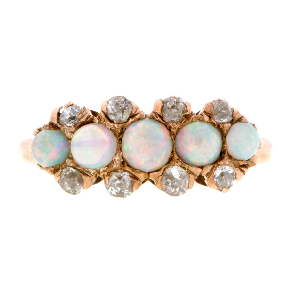 Victorian Opal & Diamond Ring::