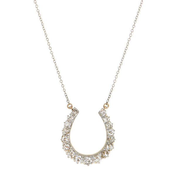 Antique Diamond Horseshoe Necklace::Doyle & Doyle