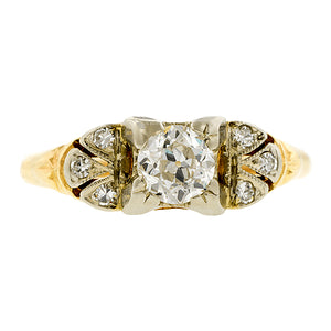 Vintage Diamond Engagement Ring, Old Euro 0.34ct:: Doyle & Doyle