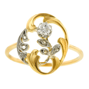 Art Nouveau Diamond Ring::Doyle & Doyle