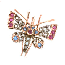 Victorian Comb With Removable Ruby, Sapphire & Diamond Butterfly Pin/Brooch::Doyle & Doyle