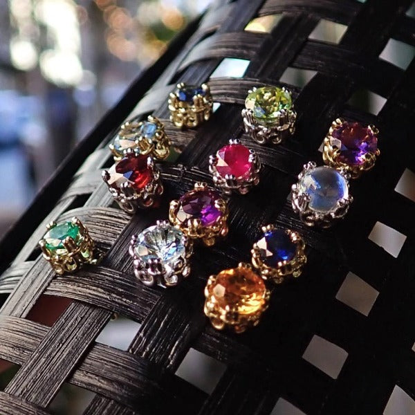 Heirloom by Doyle & Doyle gemstone stud earrings