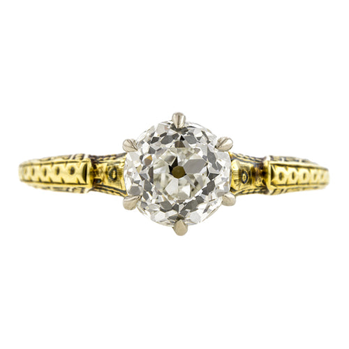 Art Deco Diamond Solitaire Engagement Ring, RBC 1.52ct:: Doyle & Doyle