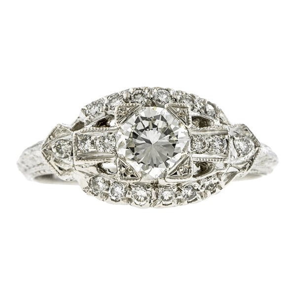 Vintage Engagement Ring, TRNB 0.50ct:: Doyle & Doyle