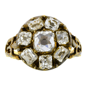 Georgian Diamond Cluster Ring::Doyle & Doyle