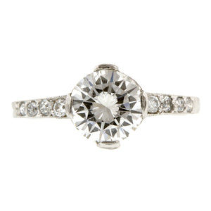 Vintage Tiffany & Co Edwardian Engagement Ring, RBC 1.35ct::