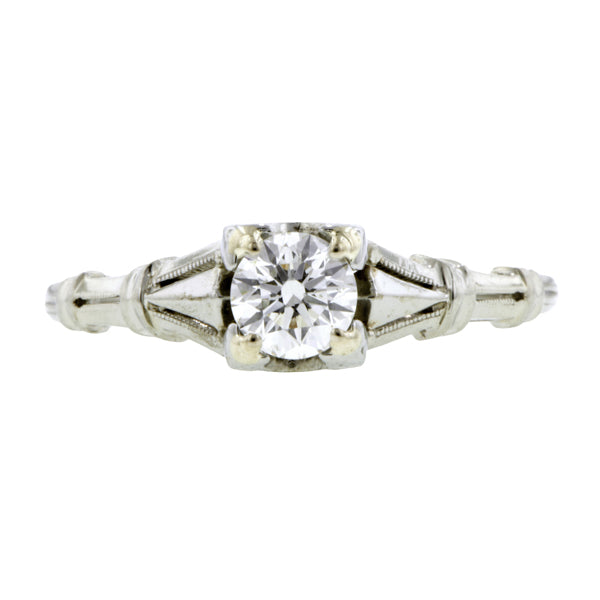 Vintage Solitaire Engagement Ring, RBC 0.42ct :: Doyle & Doyle