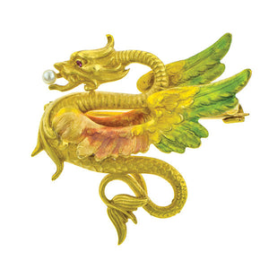Enamel* Dragon Pin::Doyle & Doyle