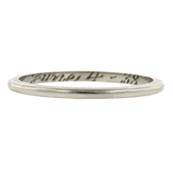 Vintage Wedding Band sold by Doyle & Doyle vintage and antique jewelry boutique.