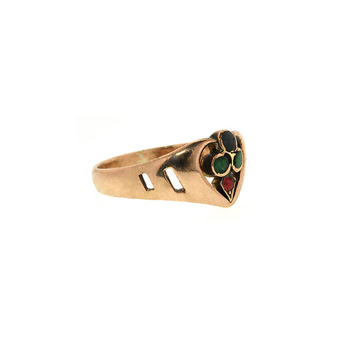 Antique Colored Stone Ring::Doyle&Doyle