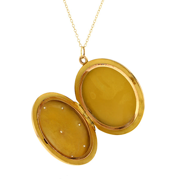 Vintage Round Diamond Locket