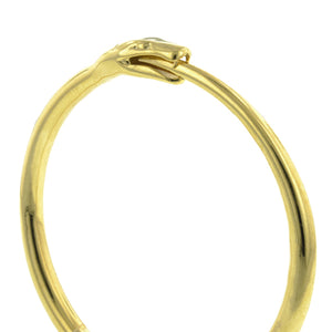Heirloom bracelet: a Yellow Gold Ouroboros With Round Brilliant Cut Diamond Bracelet sold by Doyle & Doyle vintage and antique jewelry boutique.