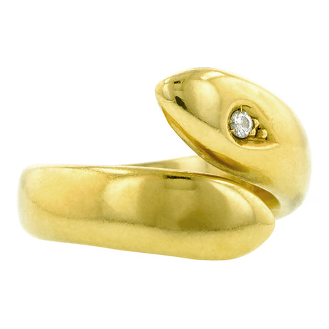 Diamond Snake Ring, RBC; 0.02ct