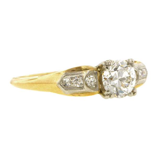Vintage Diamond Engagement Ring, TRB 0.59ct::
