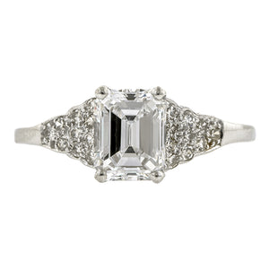 Vintage Engagement Ring, Emerald cut; 1.03ct::Doyle & Doyle