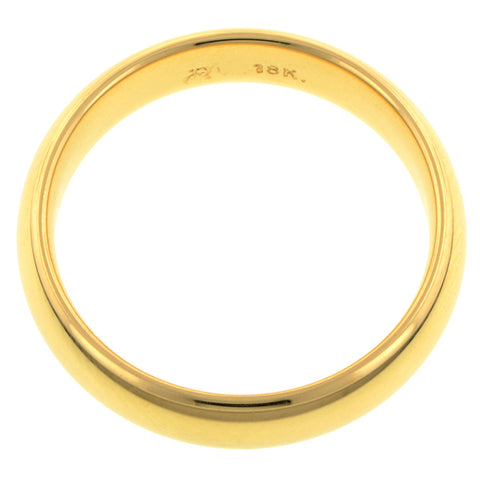 Comfort Fit Wedding Band Ring, 5mm 18ky