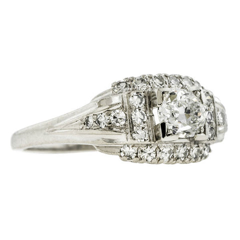 Art Deco Engagement Ring, Oval 0.69ct :: Doyle & Doyle