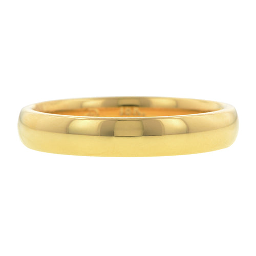 Comfort Fit Wedding Band Ring, 4mm 18ky