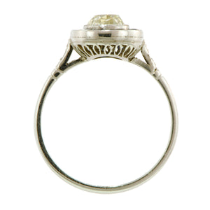 Diamond Ring 1.18ct platinum