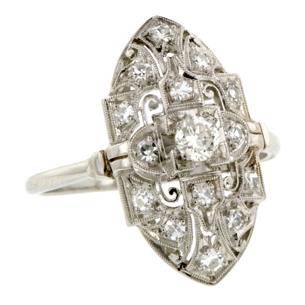 Vintage Diamond Dinner Ring, RBC 0.18ct: Doyle & Doyle: