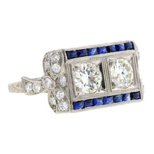Edwardian Twin Stone Diamond Ring :: Doyle & Doyle