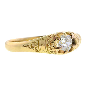 Victorian Diamond Engagement Ring, Old Mine 0.25ct:: Doyle & Doyle