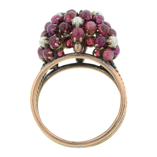 Vintage Ruby & Pearl Ring:: Doyle & Doyle