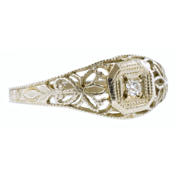 Art Deco Diamond Baby Ring