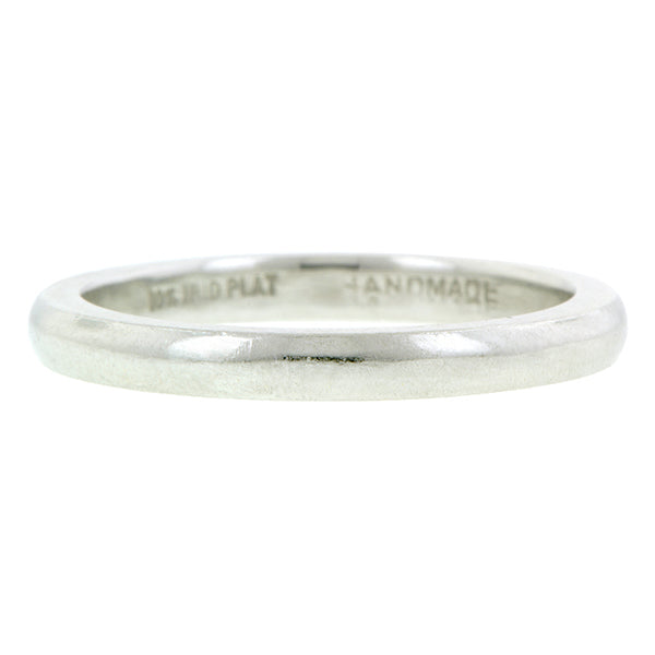 Vintage Platinum Wedding Band::Doyle & Doyle