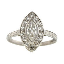 Vintage Marquise Engagement Ring, 0.56ct::