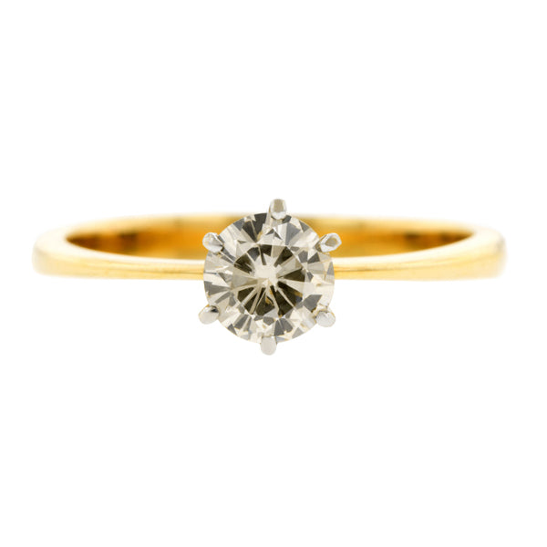 Vintage Diamond Solitaire Engagement Ring, RBC 0.50ct:: Doyle & Doyle