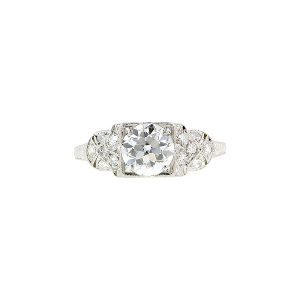 Art Deco TRB 1.20ct Platinum Engagement Ring:: Doyle & Doyle