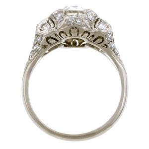 Vintage Diamond Engagement Ring, Old Euro 1.02ct