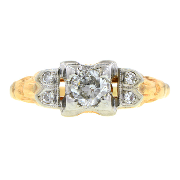 Vintage Diamond Engagement Ring, TRB 0.24ct