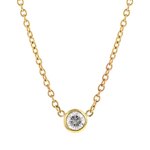 Bezel Set Diamond Necklace:: Doyle & Doyle