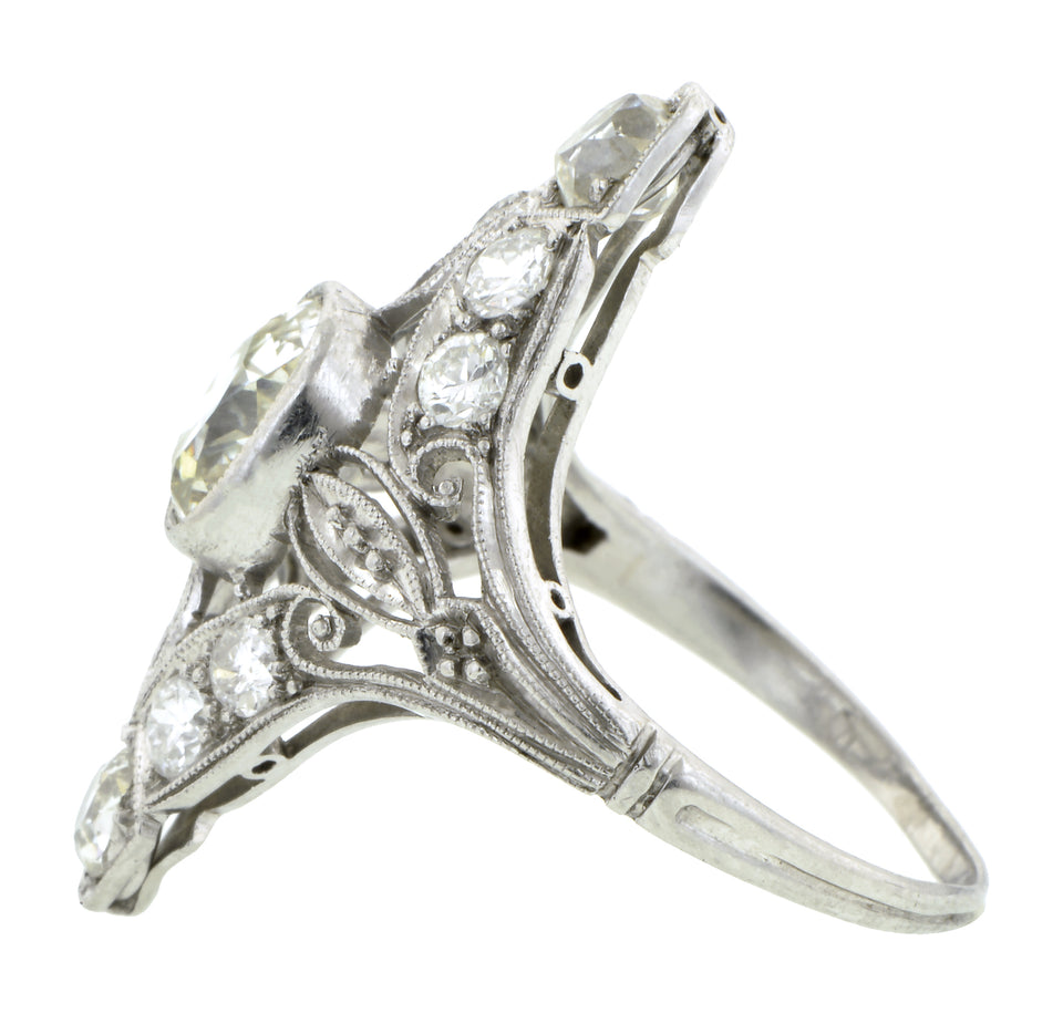 Edwardian Diamond Dinner Ring, 1.35ct Old Mine