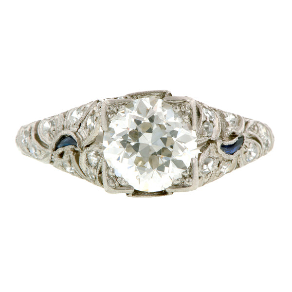 Art Deco Engagement Ring, RBC 1.57ct:: Doyle & Doyle
