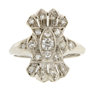 Art Deco Diamond Dinner Ring::  Doyle & Doyle